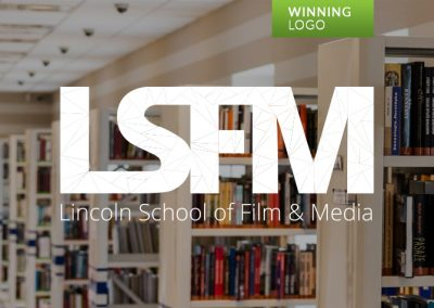 WINNING LOGO: Lincoln School of Film & Media (UK)